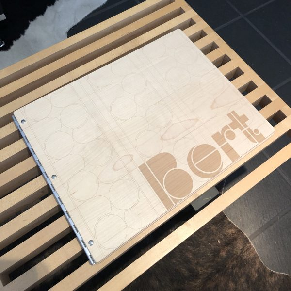 Maple Screwpost Binder With Laser Etching