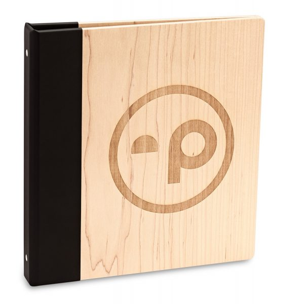Maple 3-Ring Binder with Laser Etching