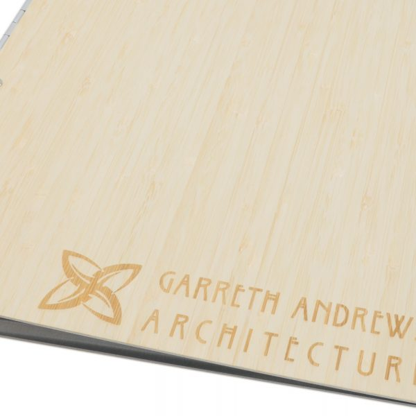 Bamboo Natural Screwpost Binder with Laser Etching